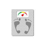 Floor scales with footprints Royalty Free Stock Photography