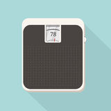 Floor scales icon in flat design. Royalty Free Stock Image