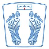 Floor scales icon. Illustration of the floor scales icon Stock Image