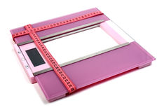 Floor scales and measuring ribbon Stock Image