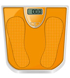 Floor scales vector illustration Royalty Free Stock Photography