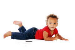 Floor Scribbler Stock Photography