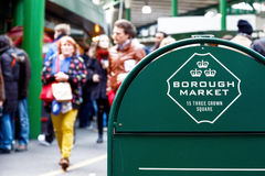 Floor signage stand of Borough Market in London Stock Photos