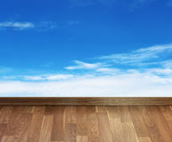 Floor with sky Royalty Free Stock Photo