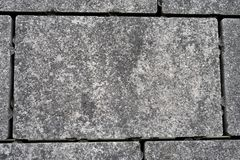 Terrace floor covered with paving stones Royalty Free Stock Photos