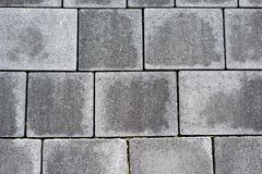 Terrace floor covered with paving stones Stock Images