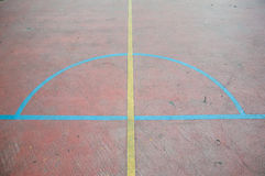 Floor of sports hall with marking lines Royalty Free Stock Photos