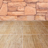 Floor and stone wall Stock Images