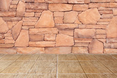 Floor and stone wall and floor. The floor and stone wall and floor Stock Photography