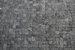 Floor of a street with stone tiles. As background Stock Photo