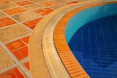 Floor of swimming pool in the luxury resort Stock Photo