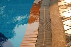Floor of swimming pool in the luxury resort Royalty Free Stock Image