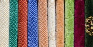 Floor thickset carpet samples Royalty Free Stock Photo