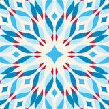 Floor tile - fantastic flower in blue and red. Vector illustration royalty free illustration
