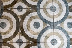 Floor tile in the form of a circle texture stock image