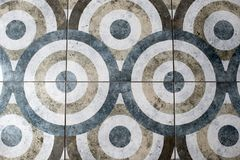 Floor tile in the form of a circle texture stock images