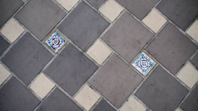 Floor tile pattern. Pattern of floor tile mix colours and size of tile Royalty Free Stock Image