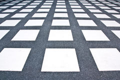 Floor tile pattern white rectangle. Stock Photography