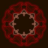 Floor tile with rosette in oriental style. Royalty Free Stock Images