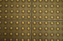 Floor tile surface on the footpath for a blind Royalty Free Stock Photo