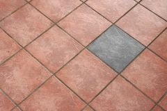 Floor from tiles Stock Photos