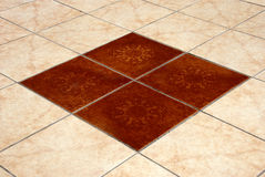 Floor tiles stock image