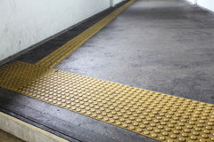 FLOOR TILES. Special Floor Tiles to guide the Blind Safely Royalty Free Stock Photo