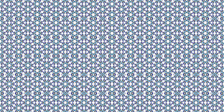 Floor tiles with abstract geometric pattern. Seamless background. blue and white. Metal Stock Images