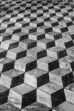 Floor tiles background 3d effect Stock Photography