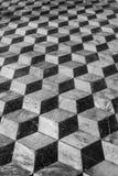 Floor tiles background 3d effect Stock Photography