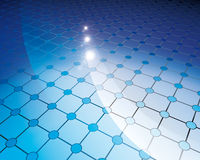 Floor tiles blue circles Royalty Free Stock Image