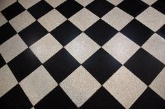 Floor tiles checkerboard pattern Royalty Free Stock Photos