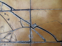 Floor tiles are cracked Royalty Free Stock Photography