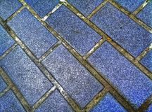 Floor tiles, dirty dark blue Stock Images
