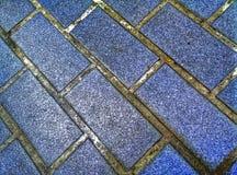 Floor tiles, dirty dark blue Stock Images