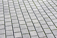 Floor tiles of granite paving stones Royalty Free Stock Images