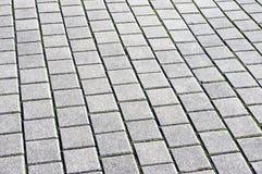 Floor tiles of granite paving stones royalty free stock images