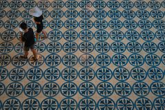 Floor tiles at Kuala Lumpur national museum royalty free stock photography
