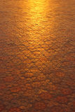Floor tiles with mirror. Tiles outdoors. It is a reflection of the sun in the evening Stock Photography