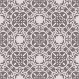 Floor tiles ornament gray vector pattern print. Neutral colors geometric floral hexagonal seamless backdrop royalty free illustration