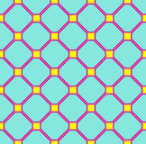 Floor tiles pattern, blue pink and yellow Royalty Free Stock Image