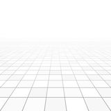 Floor tiles perspective. Illustration on white Stock Images
