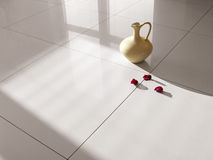 Floor tiles porcelain tiles Stock Photography