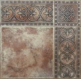 Floor  tiles in retro style with abstract close-up pattern stock photography