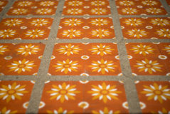 Floor tiles with typical Royalty Free Stock Photos