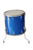 Floor Tom-Tom drum. Blue color isolated on white background Stock Photo