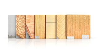 Floor types coating. Flooring Installation. Royalty Free Stock Photos