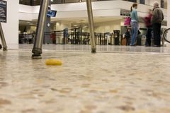 Floor view to the arrival waiting area Royalty Free Stock Photography