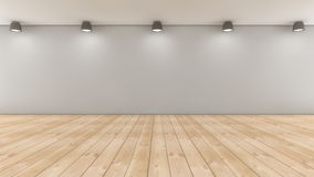 Floor, wall and lights Royalty Free Stock Images