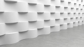 Floor with waves concrete pattern background, 3D rendering Royalty Free Stock Photo
